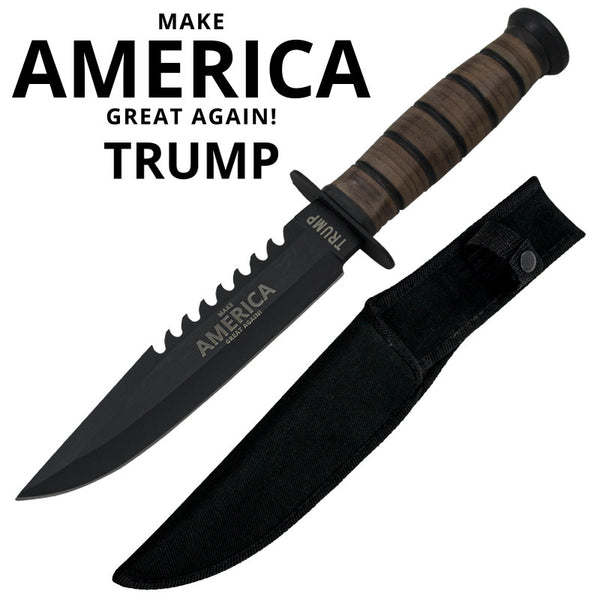 Trump Make America Great Again! Military Knife W/ Free Hard Sheath