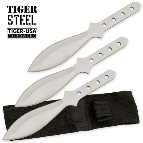 3 PC Silver 440 Stainless Steel Throwing Knife Set TV-1030-SL