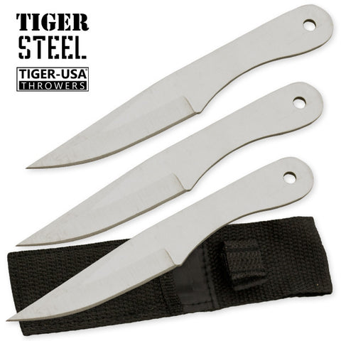 3 PC Silver Throwing Knife Set with Sheath TV-1032-SL