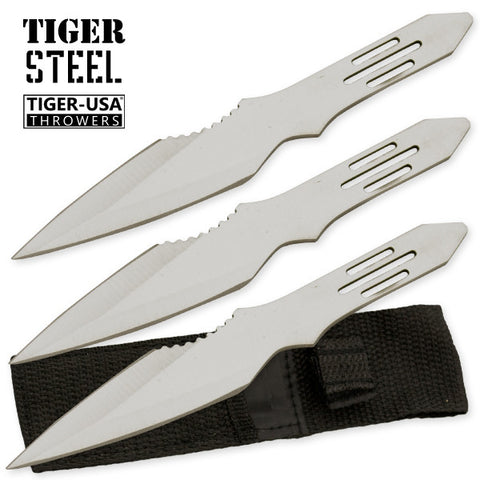 3 PC Silver Throwing Knife with Protective Case TV-1033-SL