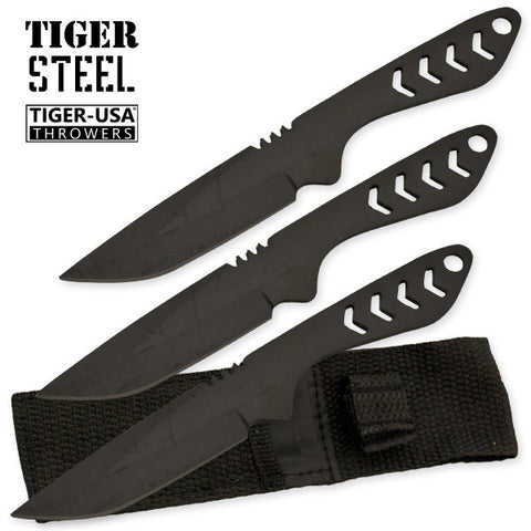 3 PC Tiger Steel Throwing Knife Set TV-1036-BK