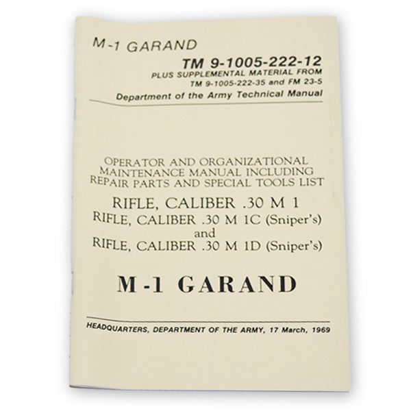 M-1 Garand Technical Manual