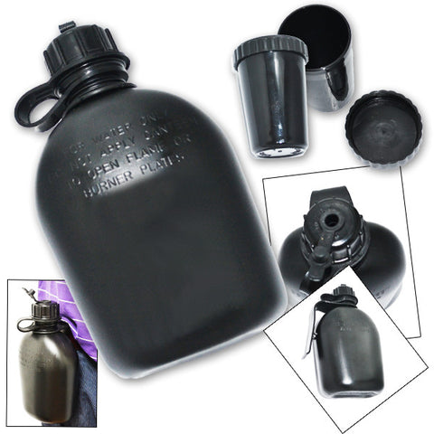 2 Piece Camping & Survival Canteen and Cup Set