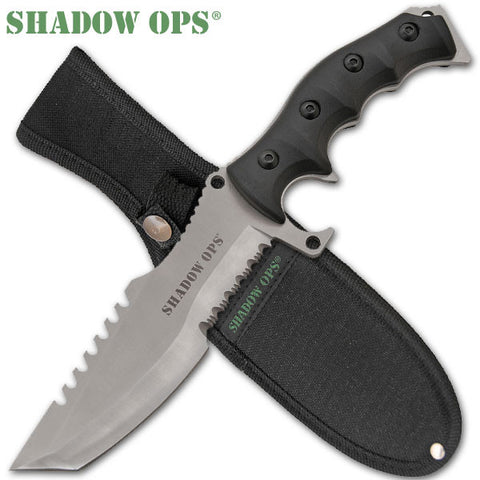 11 inch Shadow Ops Military Combat Knife CLD157 (Silver Blade)