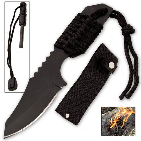 Firestarter and Knife with Sheath
