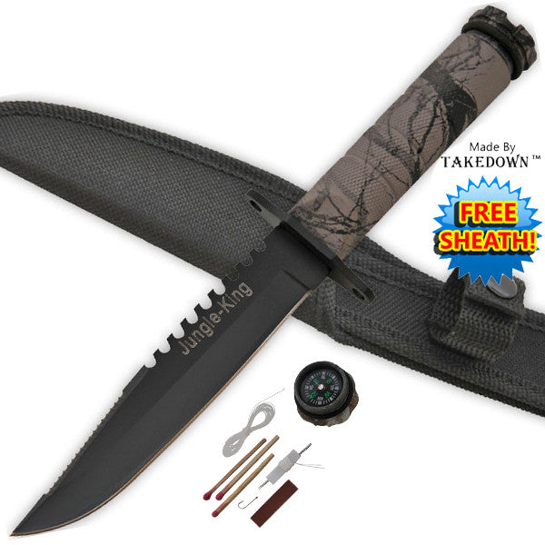 Takedown Military Survival Dagger (Jungle King/Brown Camo)