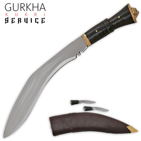 Gurkha Kukri Service Machete (Brown/Black)