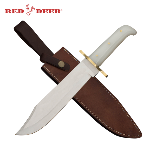 Red Deer Bowie Knife Acrylic Handle