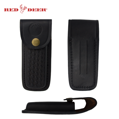 Black Leather Carrying Case Red Deer®