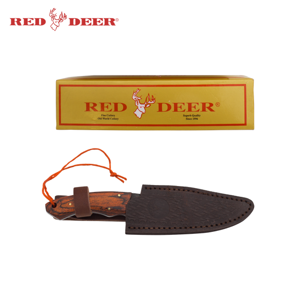 9 Inch Red Deer Doe Valley Textured Grip Skinning Knife