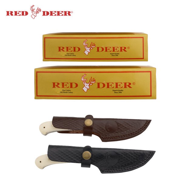 Red Deer® Hunting Knife bundle with Bone Handles