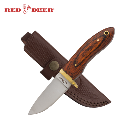 7.5inch Red Deer® Natural Wood Hunting Knife
