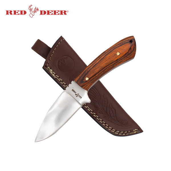 7.5 Inch Red Deer Natural Wood Skinning Knife