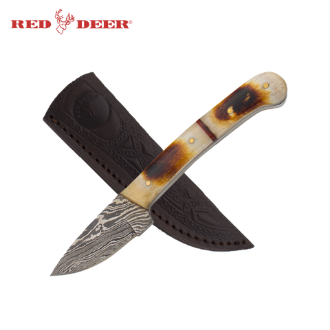 7 in Red Deer® Hunting Knife Real Bone Handle