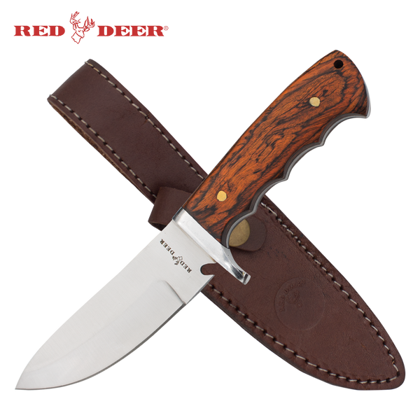 Pakka Hunter Red Deer® Full Tang Nessmuk Pakka Wood Hunting Knife