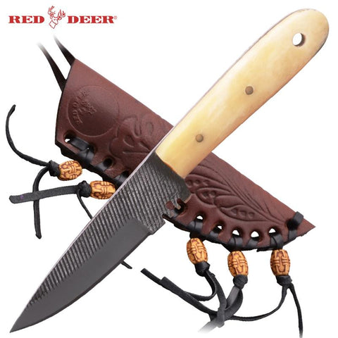 Red Deer® Patch Knife with Patch (Bone Handle) Medium