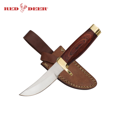 7.75 in Red Deer® Rosewood Handle Hunting Knife