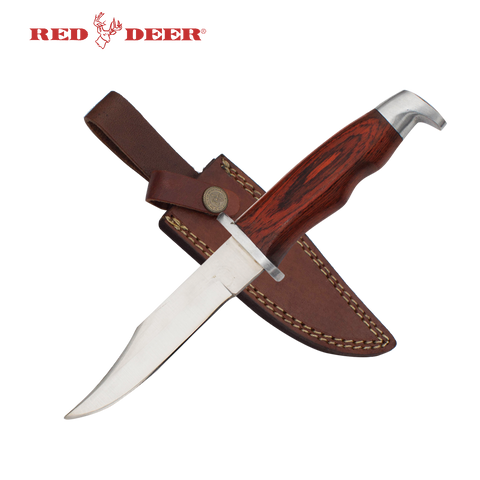9.5 in Red Deer® Pakka Wood Hunting Knife