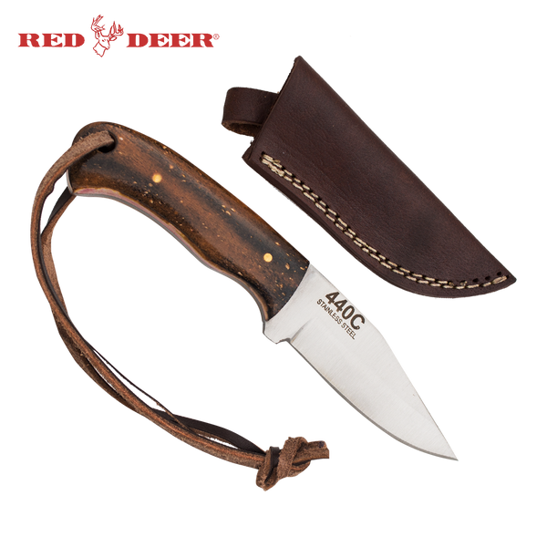 Clip Point Full Tang 6 Inch Burnt Bone Hunting Knife