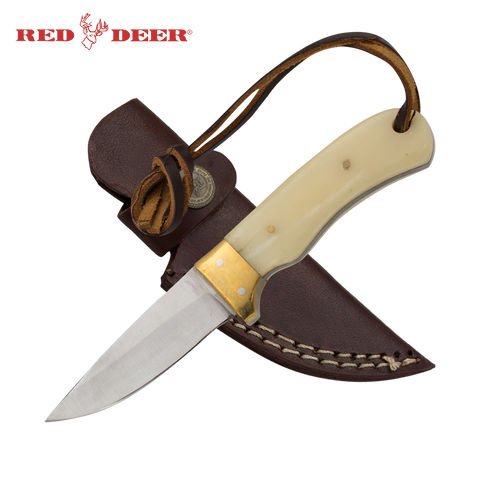 Full Tang 6.5 Inch Bone and Brass Hunting Knife