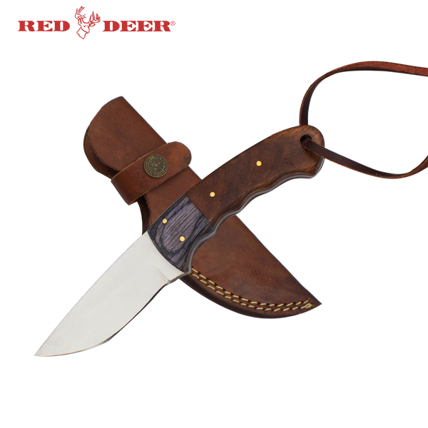 Red Deer® Full Tang Hunting Knife Wood Handle
