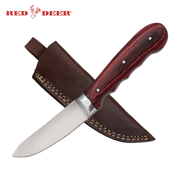 Full Tang Red Pakka Wood 8 Inch Hunting Knife