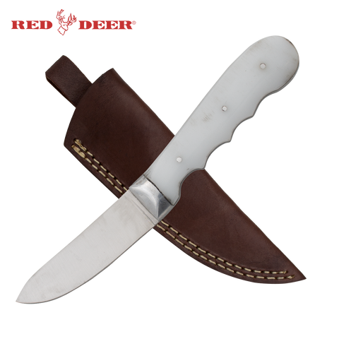 Full Tang White Acrylic 8 Inch Hunting Knife