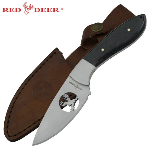 Red Deer Appalachian Deer Hunting Knife Full Tang Buffalo Horn PNS-35