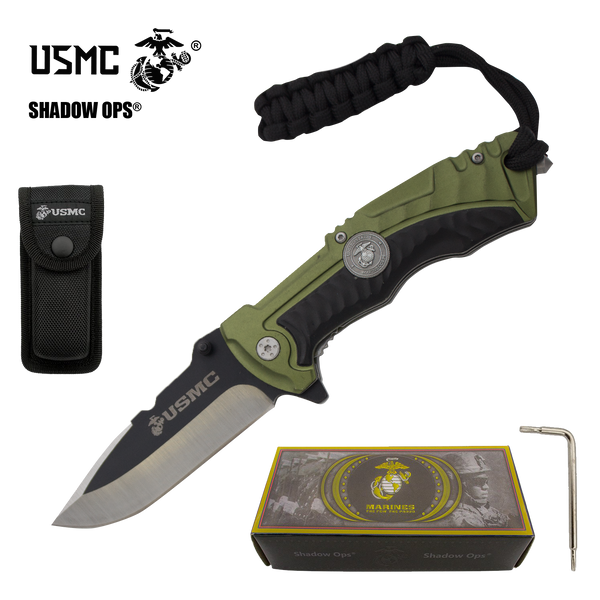 The Bullfrog Co'Ops Flip USMC Officially Licensed Folding Knife by Shadow Ops®
