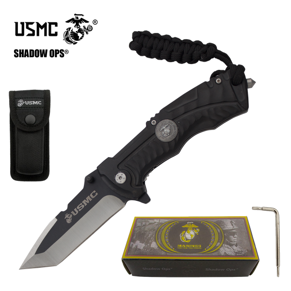 The Stealth Bullfrog Co'Ops Flip Tanto USMC Officially Licensed Folding Knife by Shadow Ops®