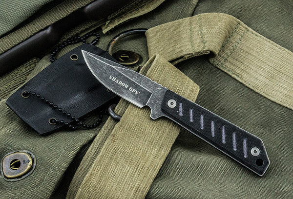 Shadow-Ops Military Neck Knife W- G-10 (Frontlines)