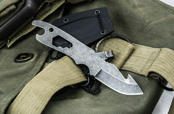 Shadow Ops Neck Knife With Ball Chain and Sheath