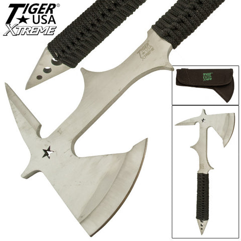 Silver Tiger USA Xtreme Tomahawk With Black Paracord TUX-27-BS