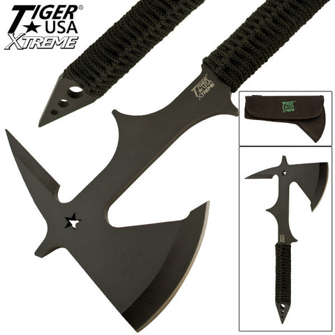 Surgical Steel Throwing Axe With 4 Inch Blade TUX-27-BK