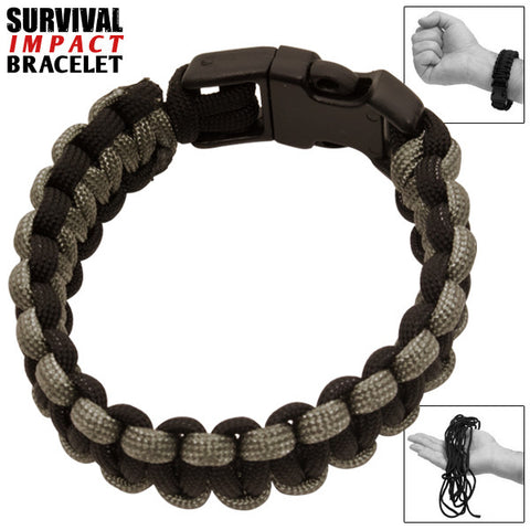 Survival Impact Bracelet With Paracord and Plastic Attachment P-006