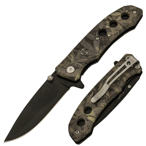 Trigger Action 7 Inch Tactical Camo Knife