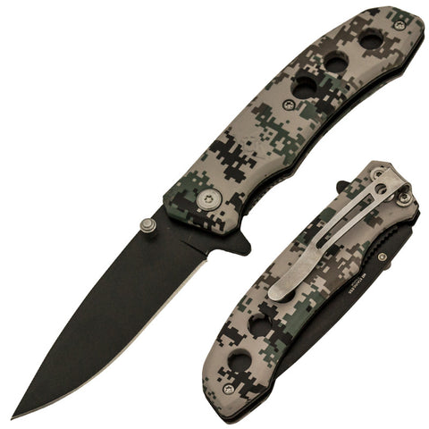 Trigger Action 7 Inch Tactical Digi Camo Knife