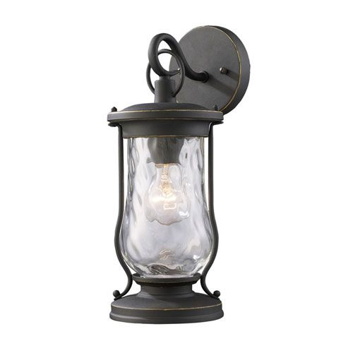 Elk Lighting Farmstead Matte Black One Light Outdoor Wall Light