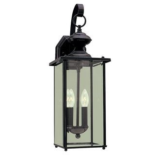 Black Jamestowne 2 Light Outdoor Lantern Wall Sconce
