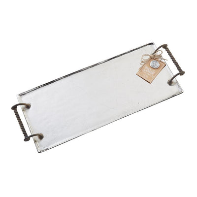 French Metal Tray - Bleu Spruce  - 1
