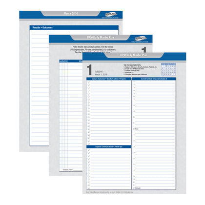 rpm daily planner forms day planner refills tony robbins