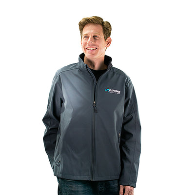 Grey Fleece Trainer Jacket For Men