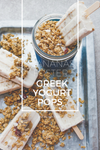 Bananas Foster Greek Yogurt Pops