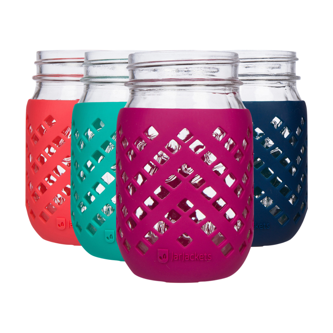 16oz silicone mason jar sleeves