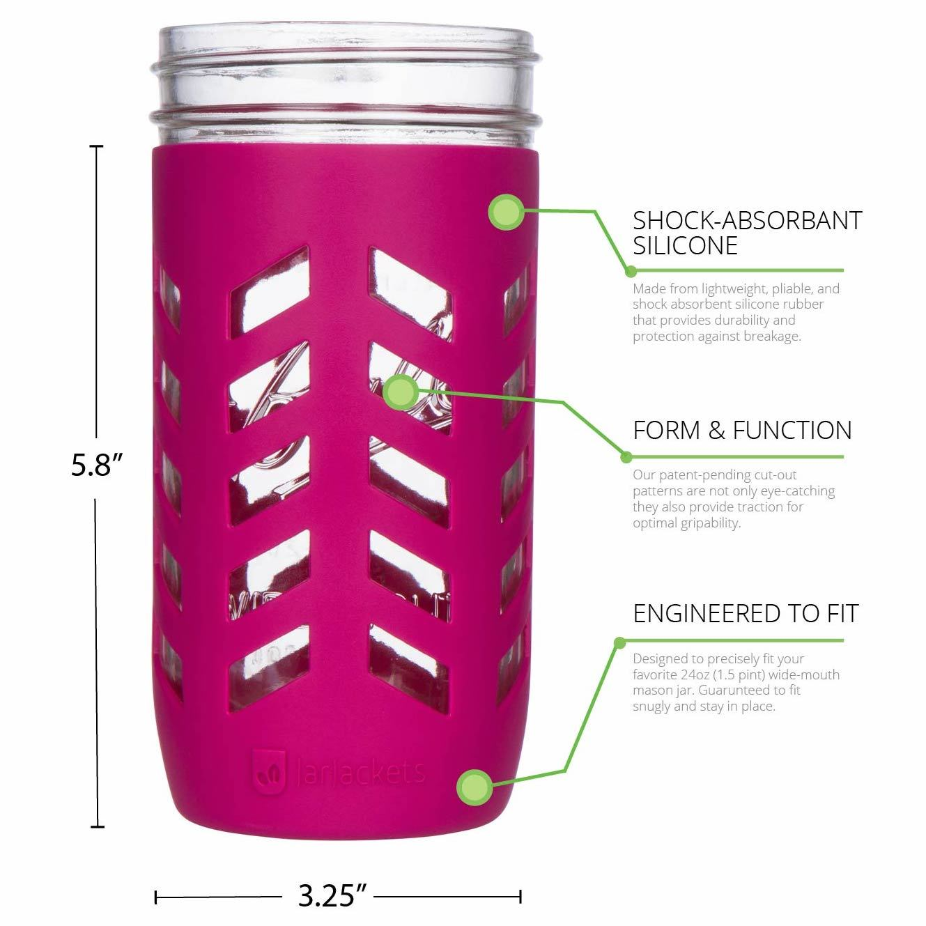 Glass mason jar silicone sleeves