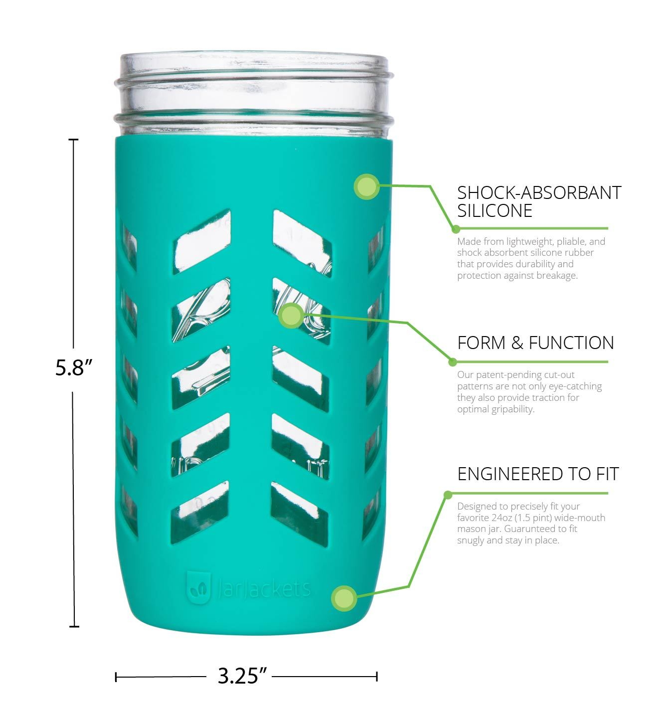 mason jar silicone cover 24oz