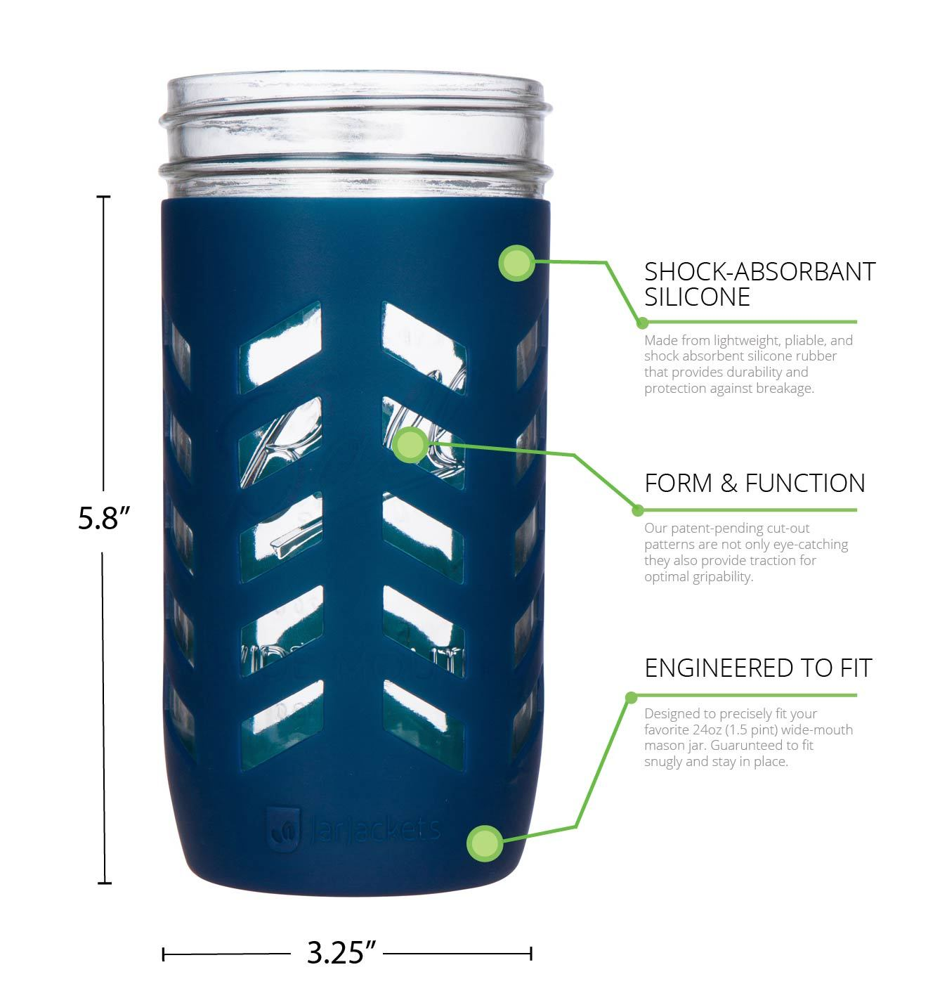 24oz mason jar silicone sleeves