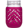 Package of 1 | Silicone Mason Jar Sleeves - Fits 16oz (1 pint) REGULAR-Mouth Jars (Sangria)
