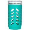 Package of 1 | Silicone Mason Jar Protector Sleeve - Fits Ball, Kerr 24oz (1.5 pint) Wide-Mouth Jars (Lagoon)