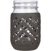 Package of 1 | Silicone Mason Jar Sleeves - Fits 16oz (1 pint) REGULAR-Mouth Jars | Charcoal